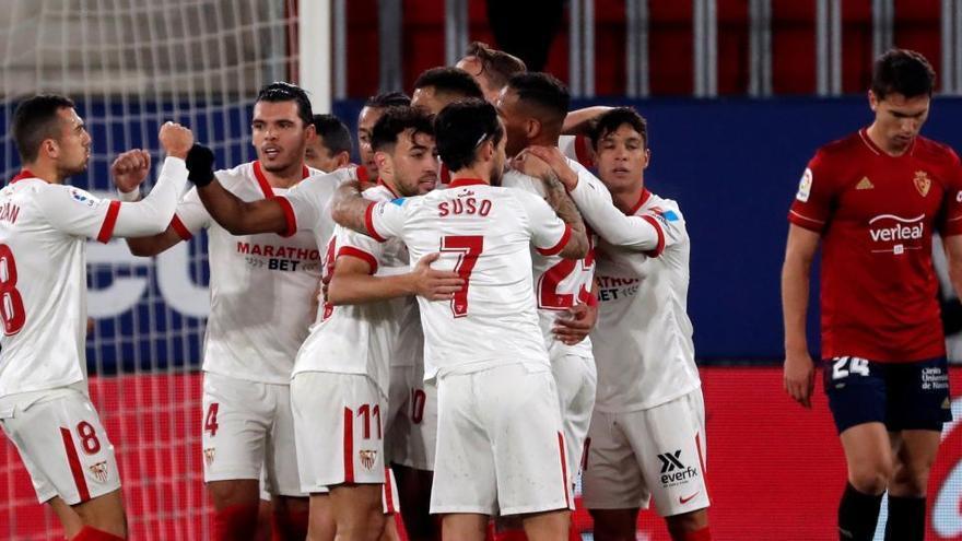El Sevilla rompe la buena dinámica de Osasuna