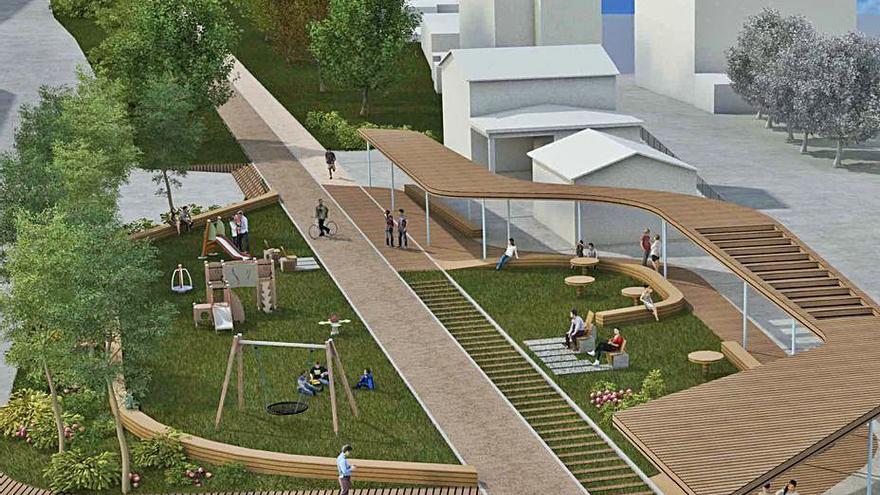 La senda verde de Chapela contempla una gran plaza en el antiguo apeadero