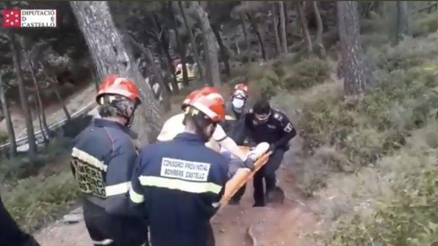 Rescate a los senderistas heridos en Benicàssim