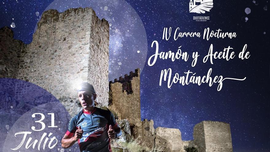 Vuelve la IV Carrera Nocturna 'Jamón y Aceite de Montánchez' tras un año de parón