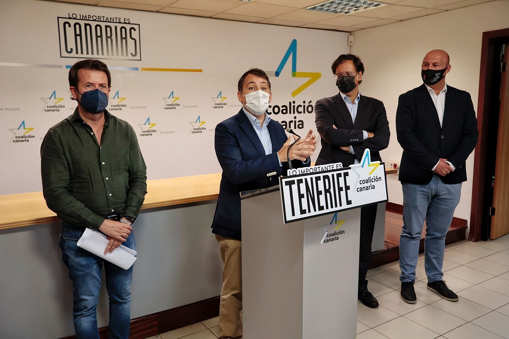Rueda de prensa de CC sobre inversiones en Tenerife