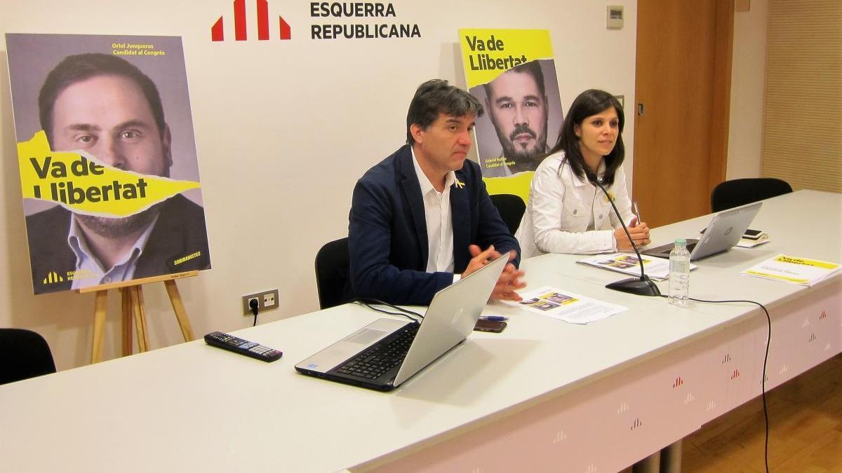 Sergi Sabrià i Marta Vilalta (ERC).