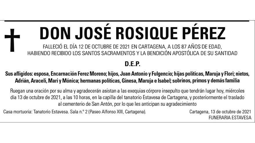 D. José Rosique Pérez