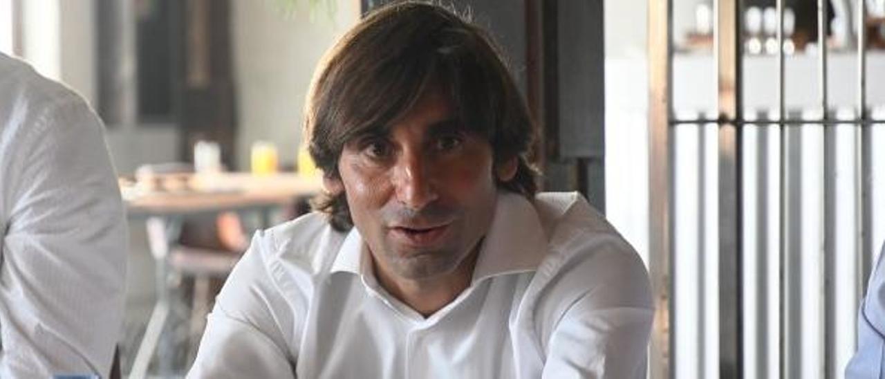 Pedro Menéndez, en su presentación como secretario técnico del Racing.