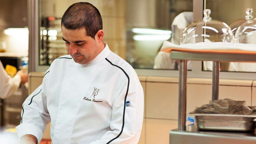 Erlantz Gorostiza, chef del MB, el restaurante del Hotel Abama de Guía de Isora.