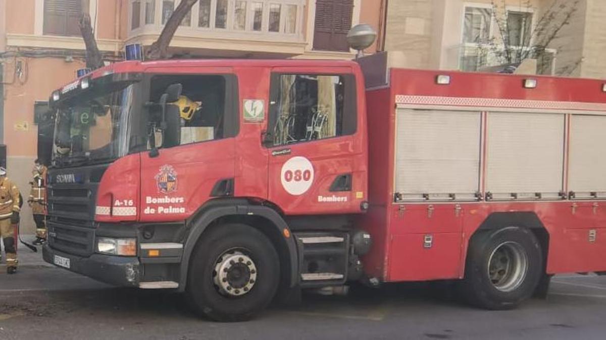 Los bomberos de Palma en una imagen de archivo.