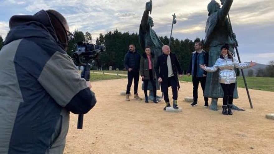 Primeras imágenes de la grabación del videoclip de Panorama para promocionar el Xacobeo