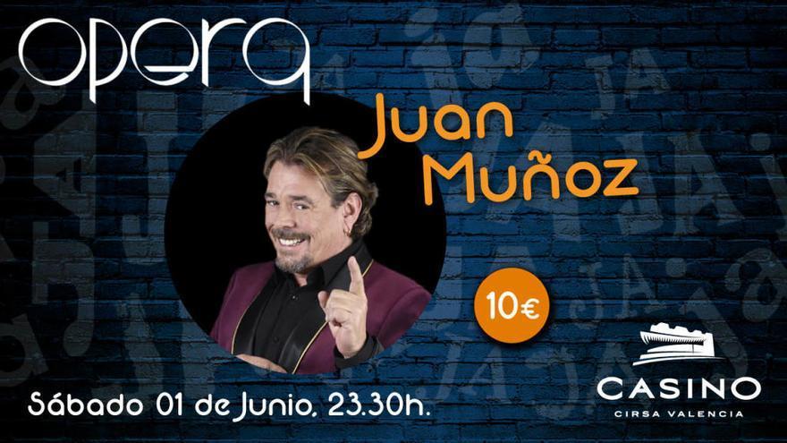 Juan Muñoz, de 'Cruz y Raya', en Casino Cirsa Valencia