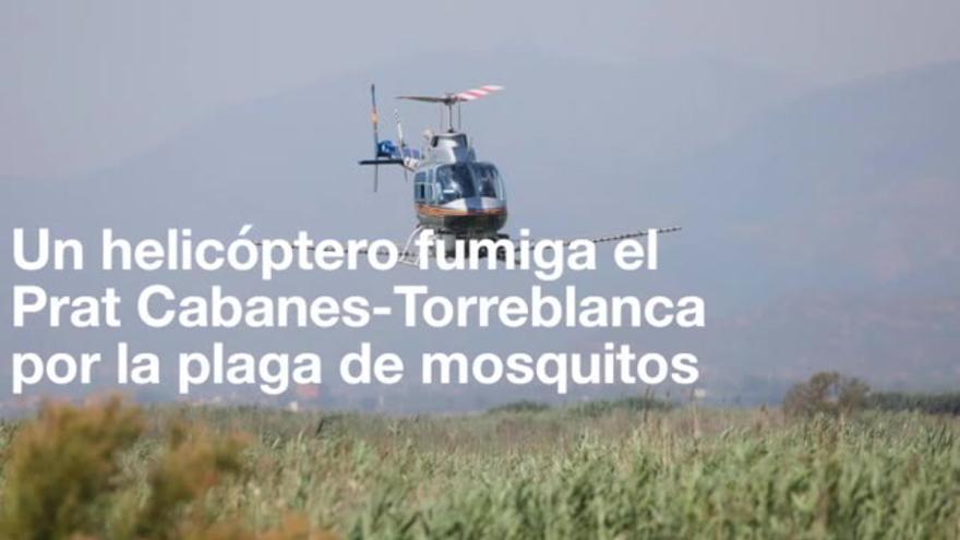 Un helicóptero fumiga el Prat y no descartan más vuelos tras el verano