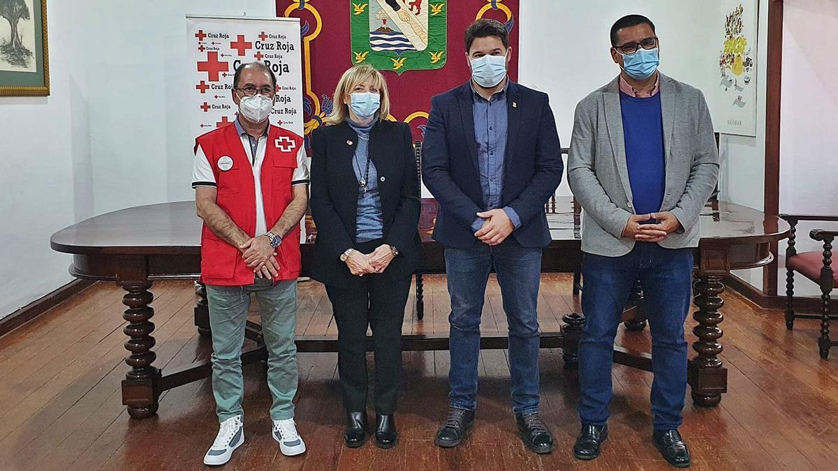 Fernando Rodríguez, Mayte Pociello, Airam Puerta y José Miguel Hernánzdez.