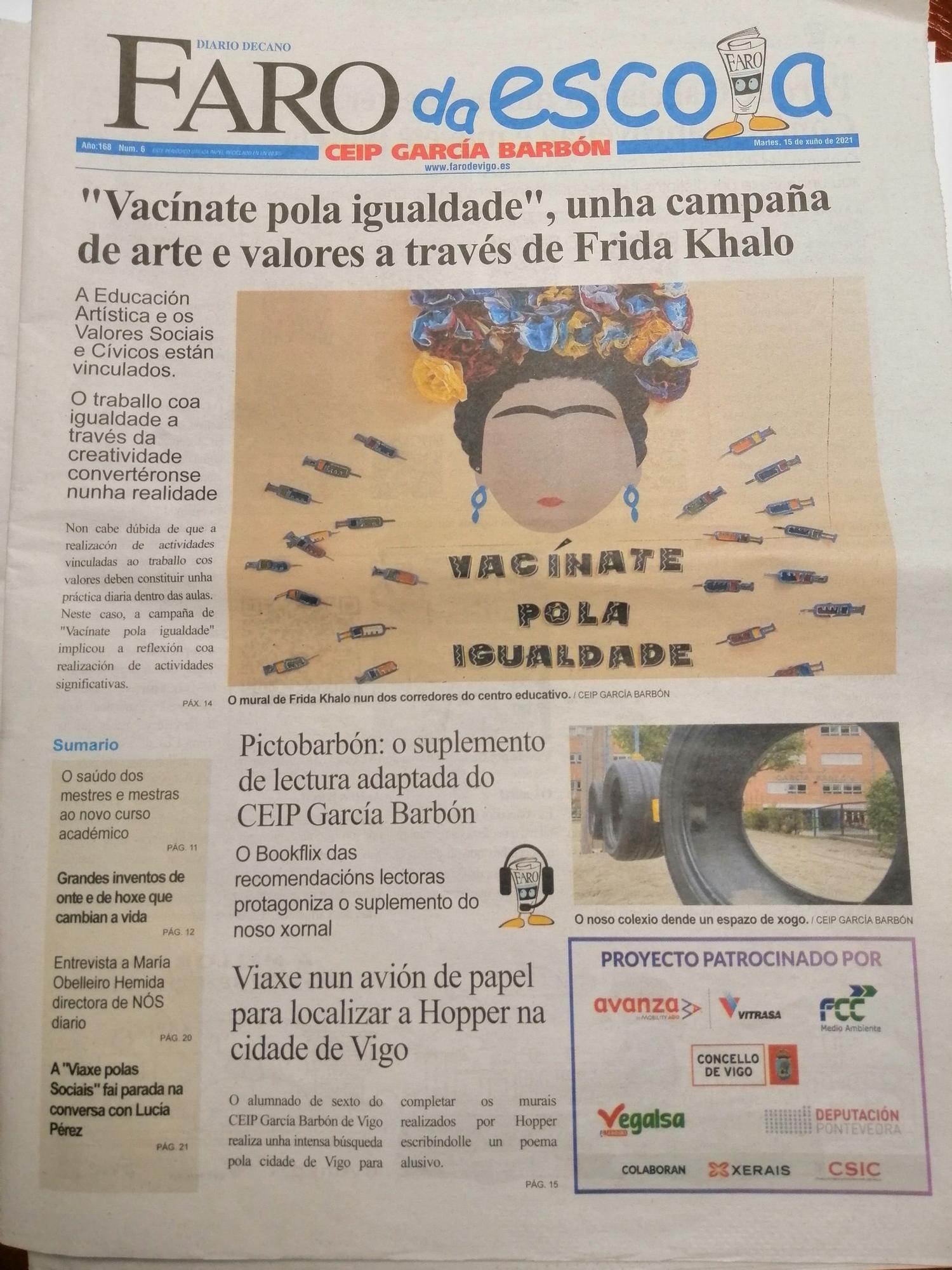 Mellor xornal (1º). CEIP García Barbón