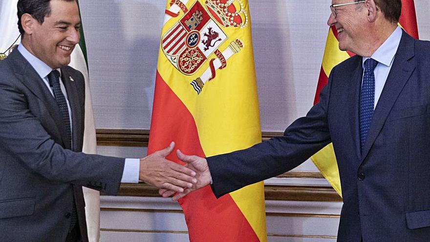 Ximo Puig i Juanma Moreno acorden una aliança per al finançament