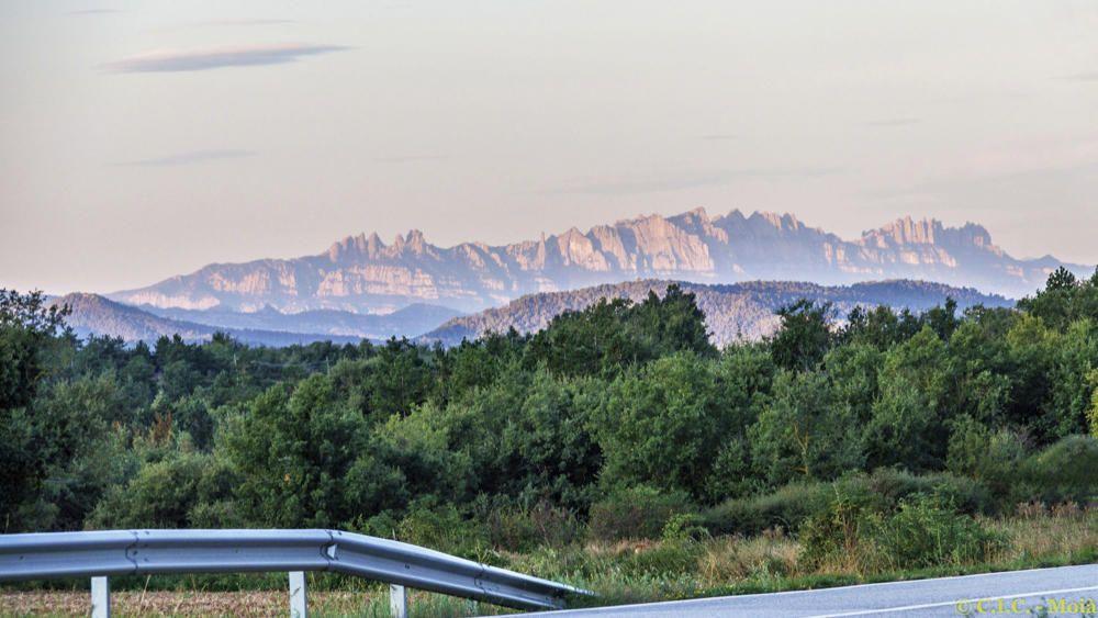 Vistes matinals de Montserrat.