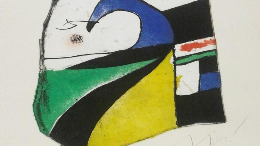 La Policía localiza una obra extraviada de Joan Miró que iban a subastar en Londres