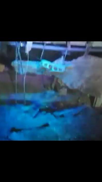 Hundimiento del suelo de una discoteca en Tenerife