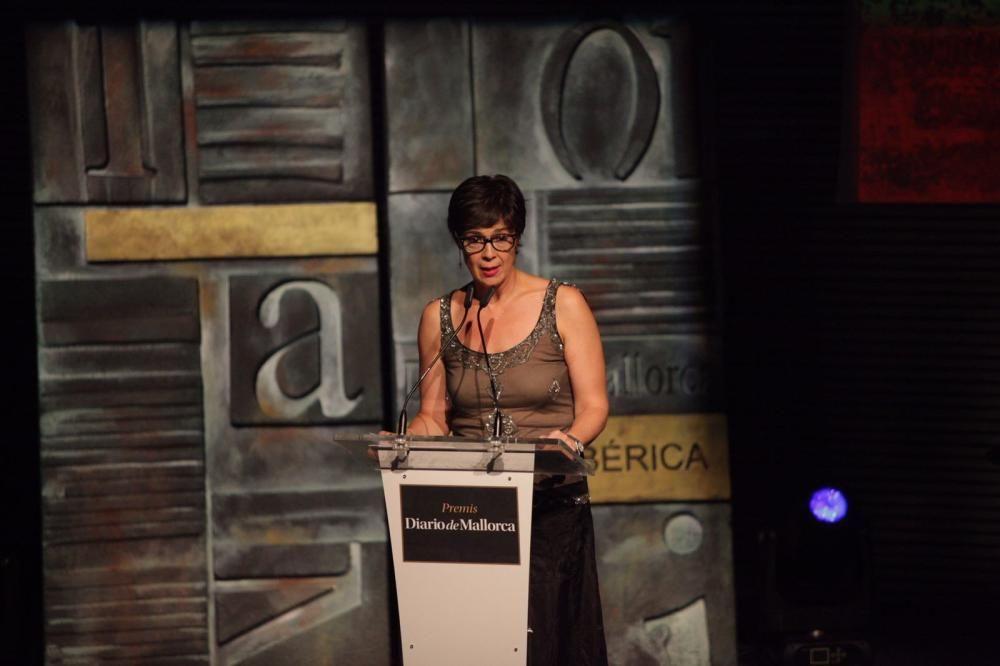 Mercè Marrero, presentadora de la gala de los Premis Diario de Mallorca, en un momento del acto.