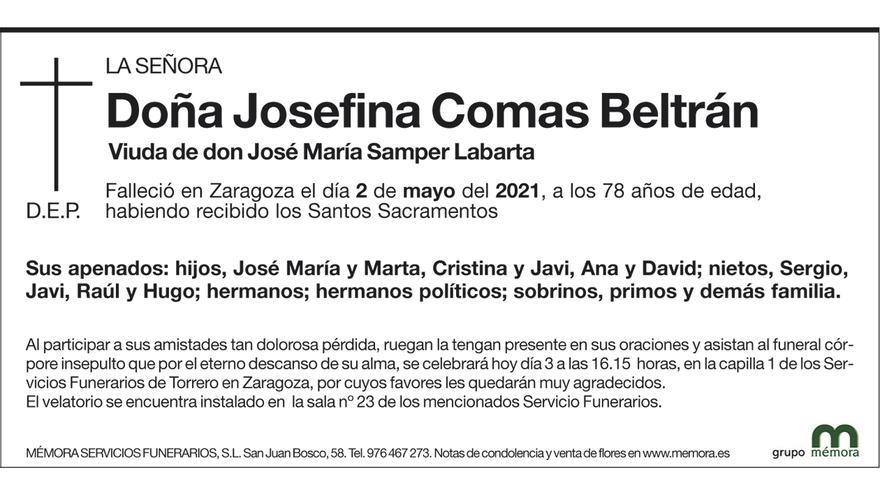 Josefina Comas Beltrán