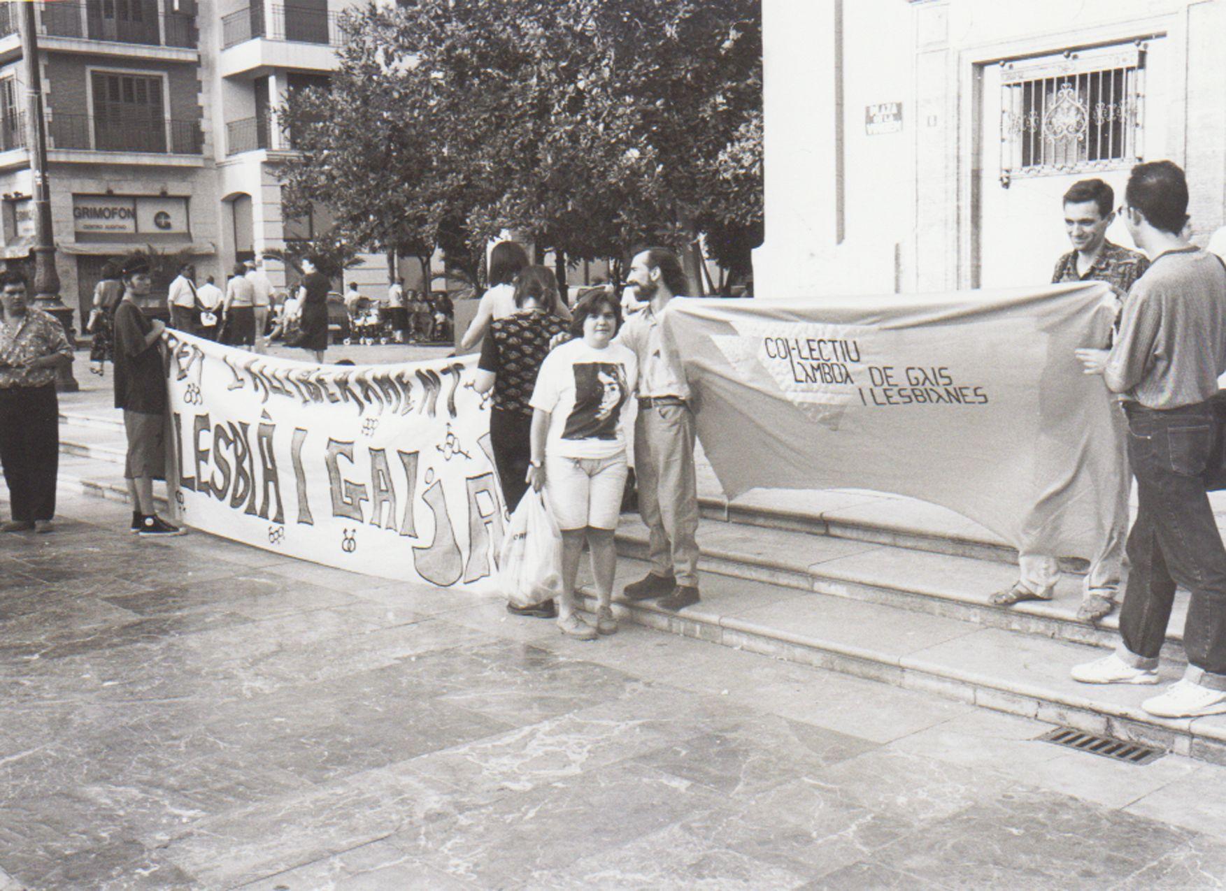 Manifestación de gais y lesbianas en 1993