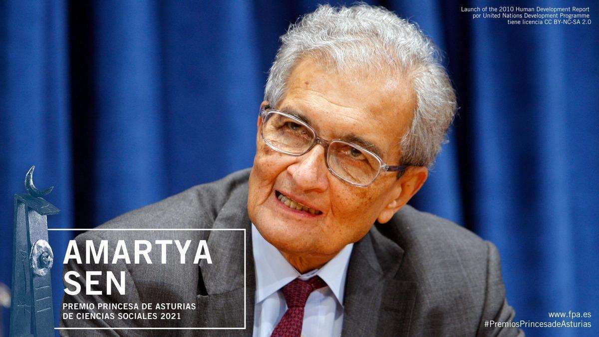 """Amartya Kumar Sen, premio """"Princesa de Asturias"""" de Ciencias Sociales 2021"""