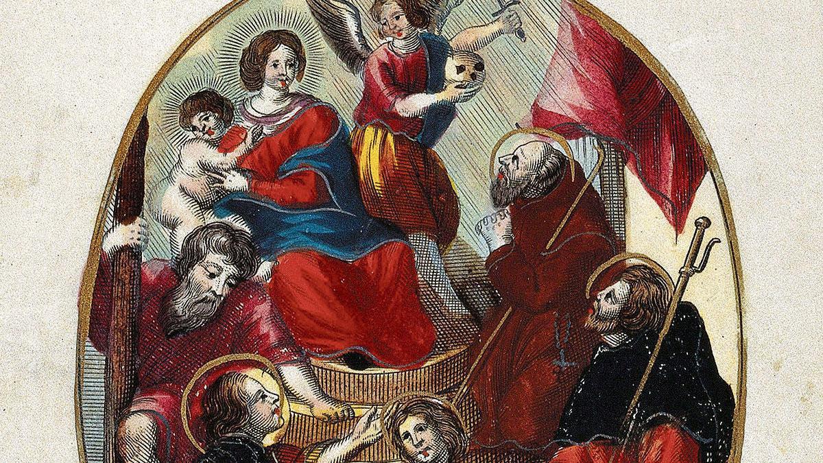 Dass die Heiligen, wie auf diesem Stich von Theodor van Merlen (1600-1659), vor der Pest schützten, erwies sich als Irrglaube.