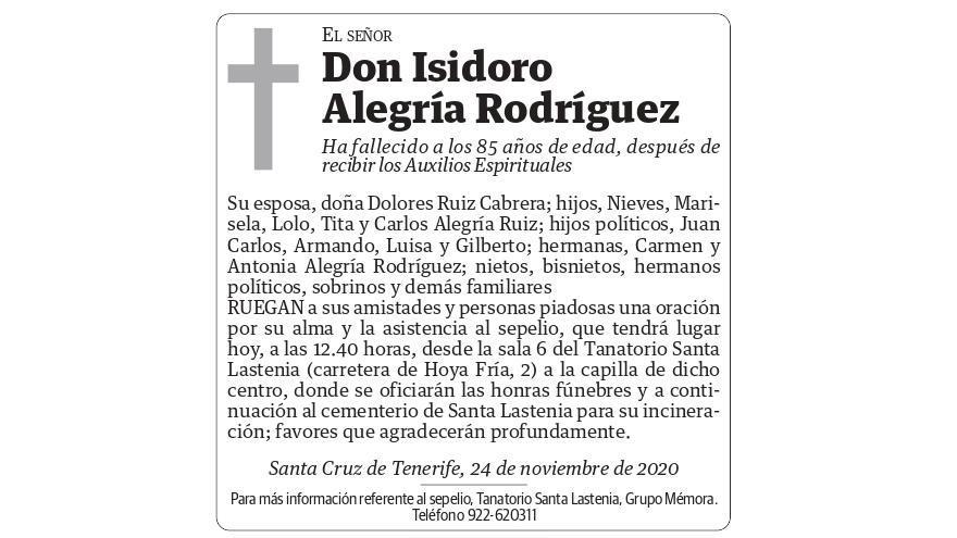 Isidro Alegría Rodríguez