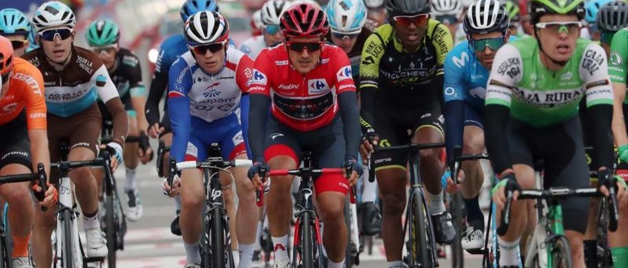 Etapa 7 Vuelta a España: Valverde no gana ni en fuga
