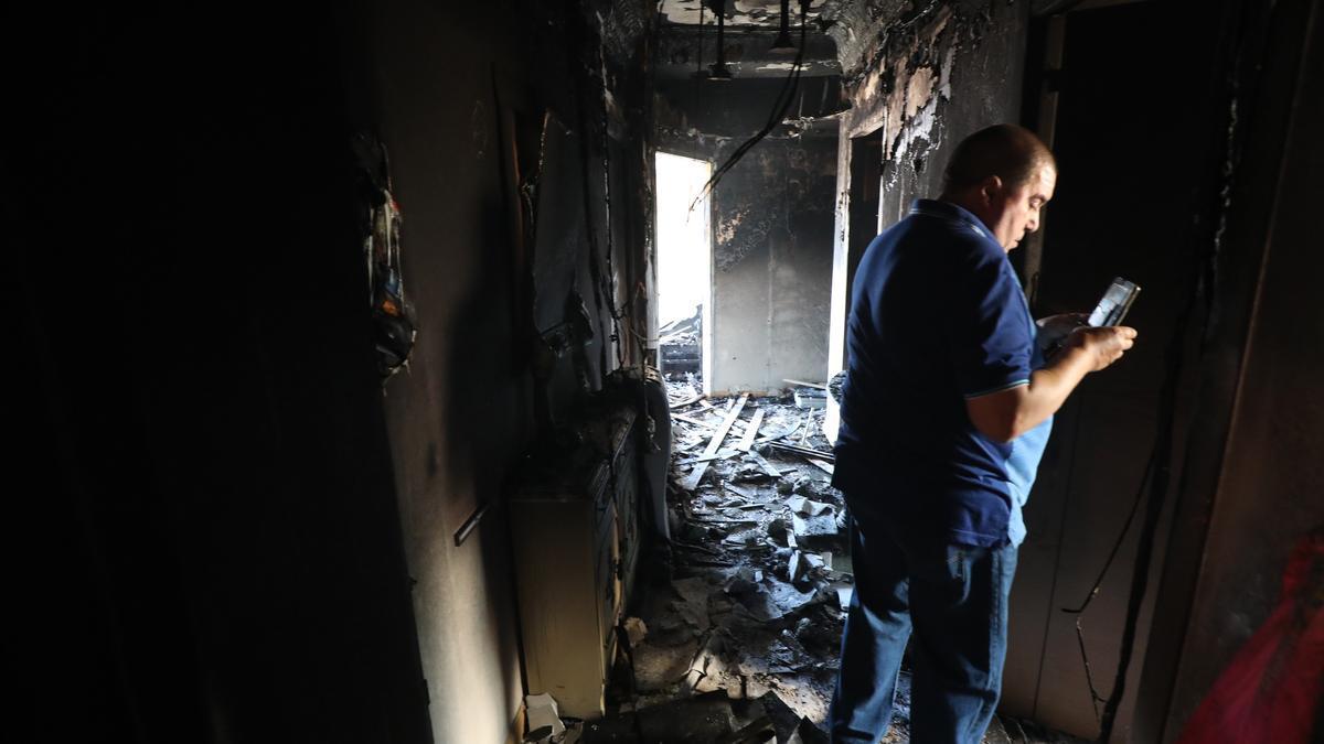 Incendio en la calle Cortes de Aragón de Zaragoza