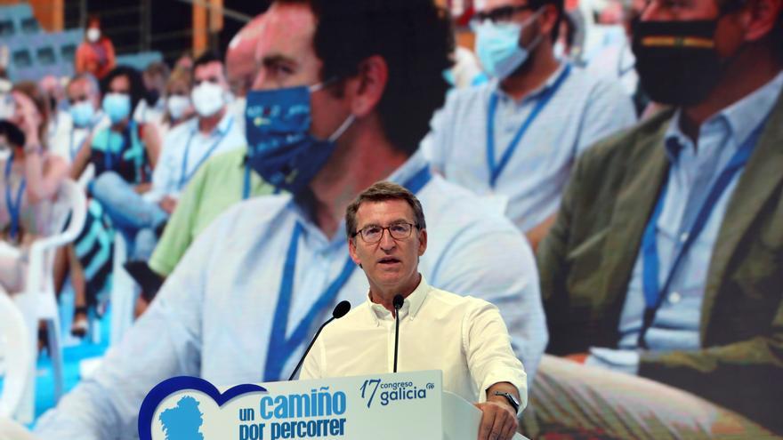 """Feijóo defiende un partido """"de amplio espectro"""" tras ser reelegido como líder del PPdeG"""