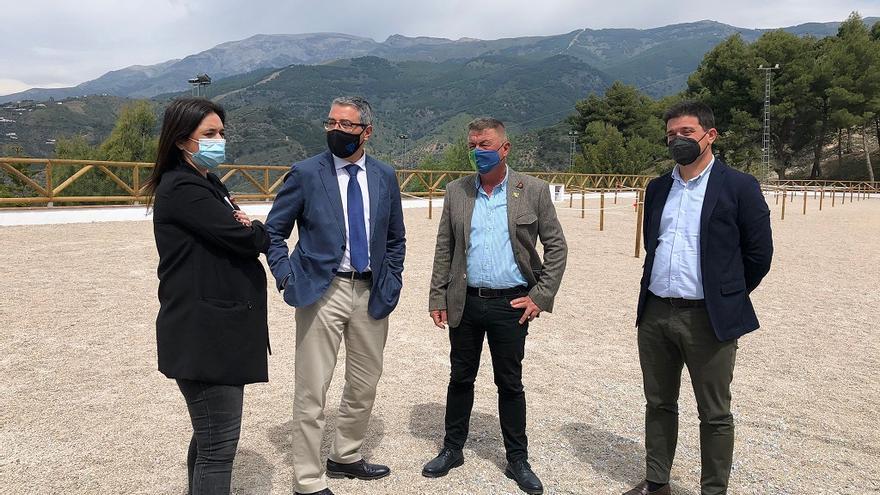 La Diputación impulsa el nuevo parking de caravanas y autocaravanas de Canillas de Albaida