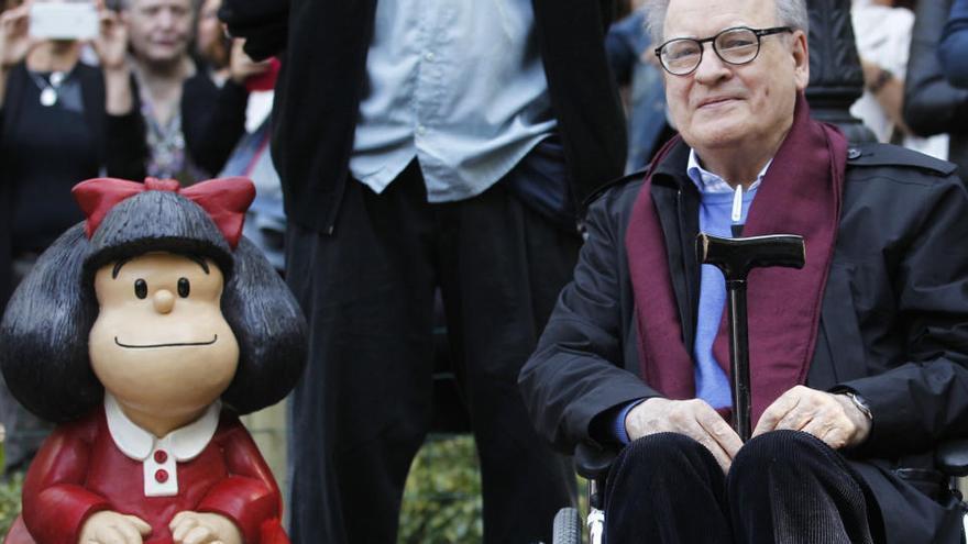 Muere Quino y su Mafalda de Oviedo se queda huérfana