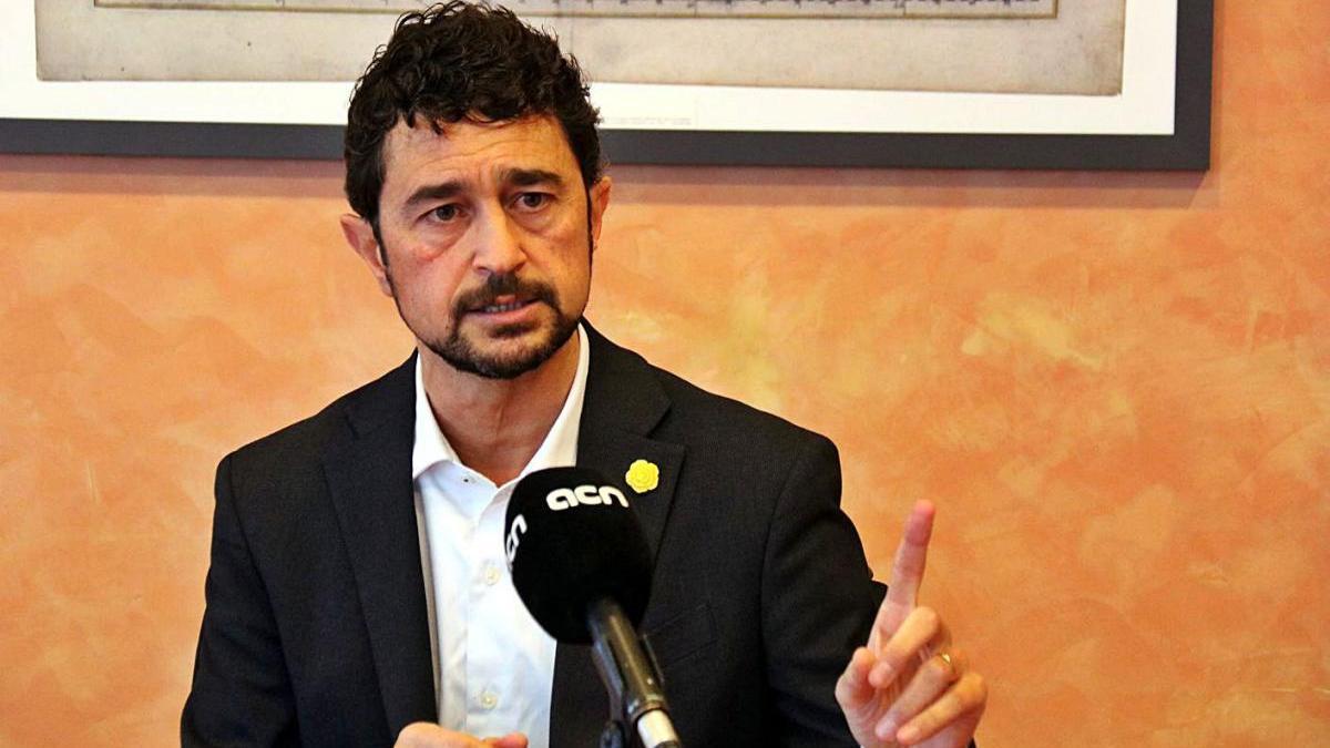 El conseller de Territori i Sostenibilitat del Govern de la Generalitat, Damià Calvet.