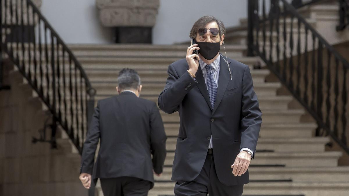 Der ehemalige Untersuchungsrichter Manuel Penalva bei einem Gerichtstermin in Palma de Mallorca.
