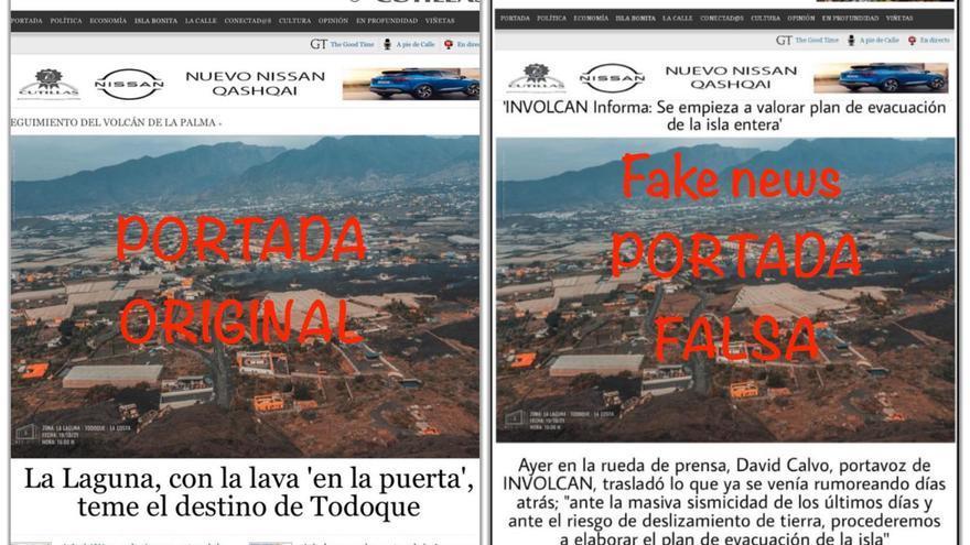 Es falso que El Time haya publicado que está en marcha el plan de evacuación de La Palma