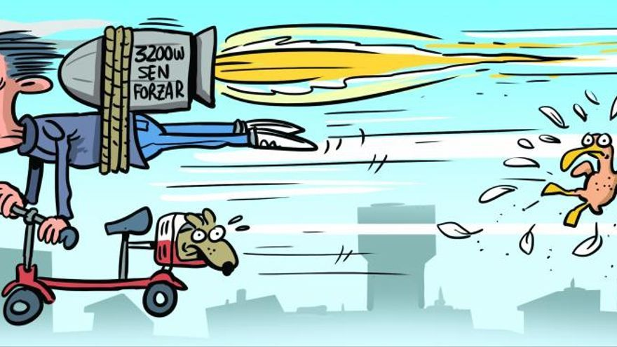 A todo gas en patinete y bicicleta eléctrica: los más rápidos (e ilegales) de Vigo