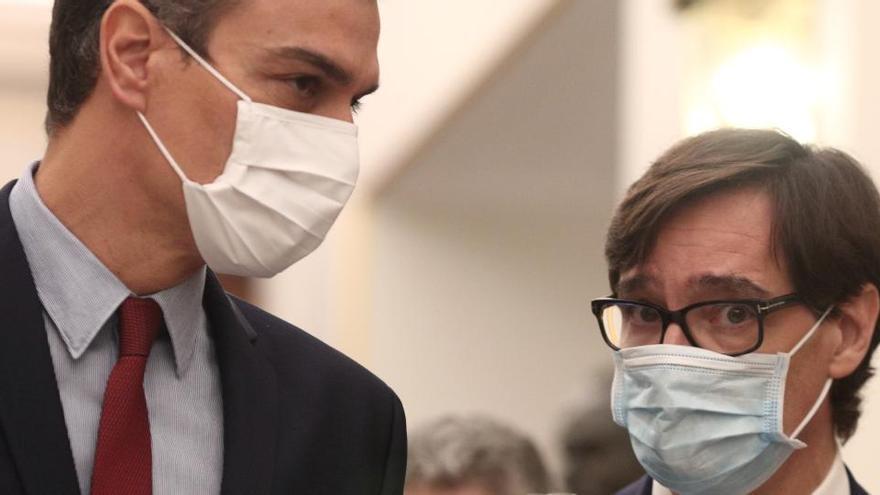 Pedro Sánchez muestra su apoyo a Illa en su camino a la Generalitat