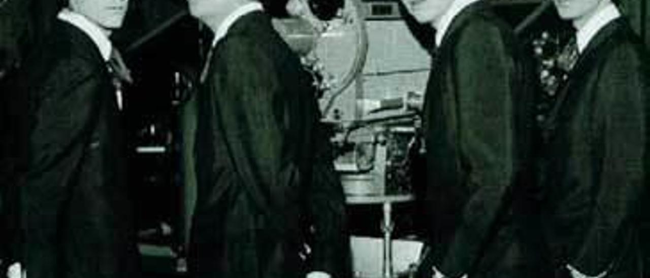"""Juan Pardo, Miguel González, Antonio Morales """"Junior"""" y Fernando Arbex, los primeros """"Brincos""""."""