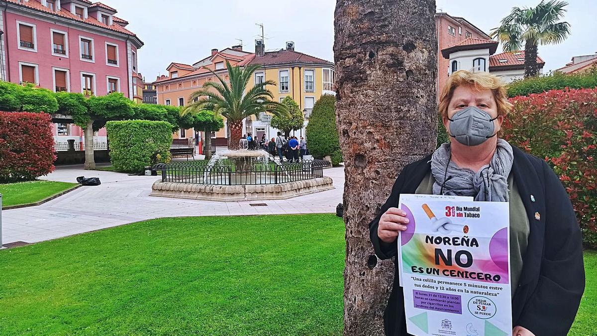 Plantas por cigarrillos, campaña de Salud en la Villa Condal | S. ARIAS
