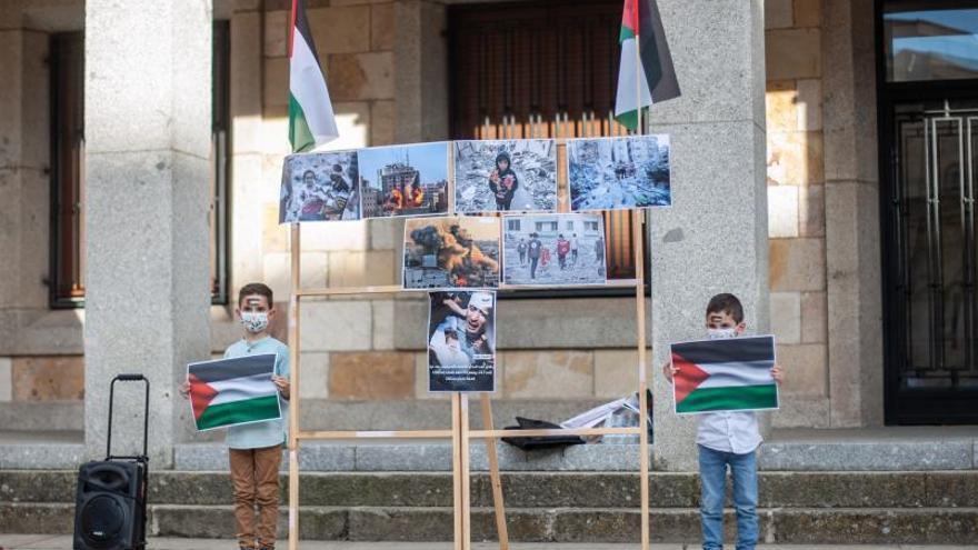 Concentración en Zamora contra la violencia en Gaza