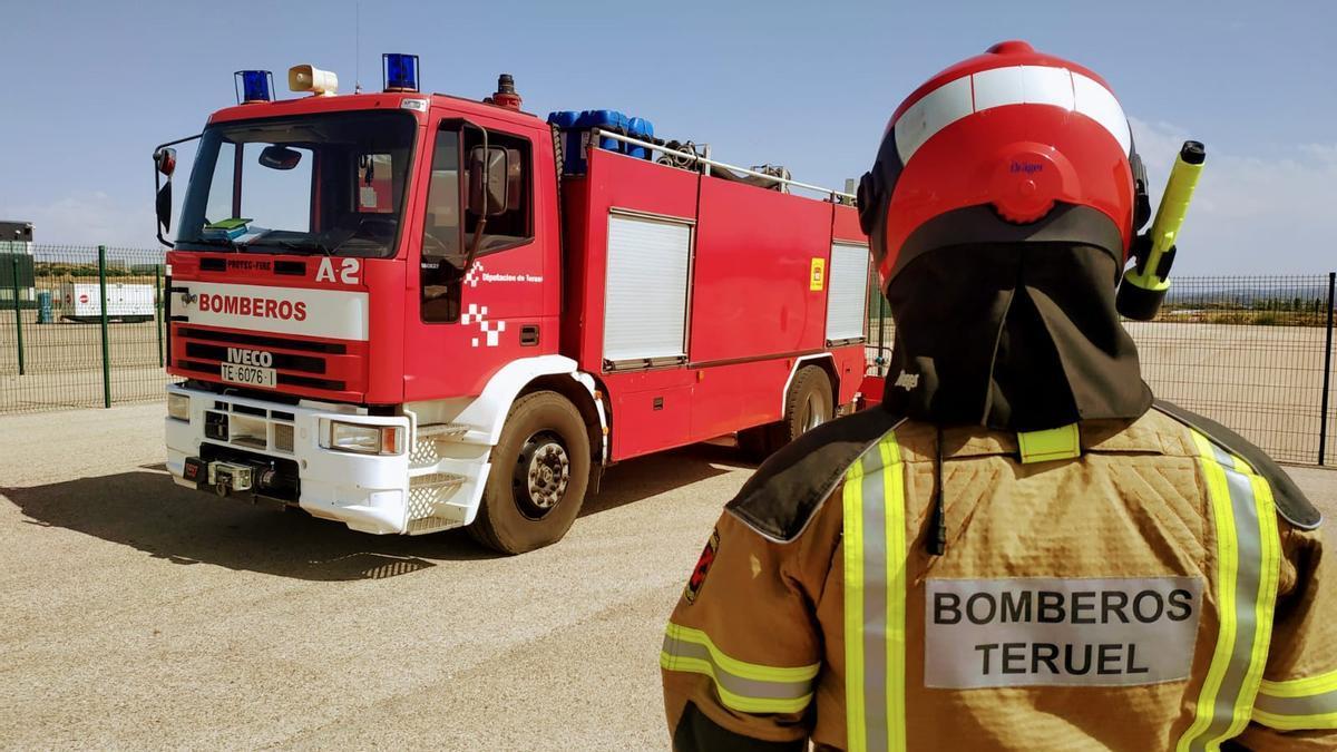 Imagen de archivo de un bombero de la DPT.