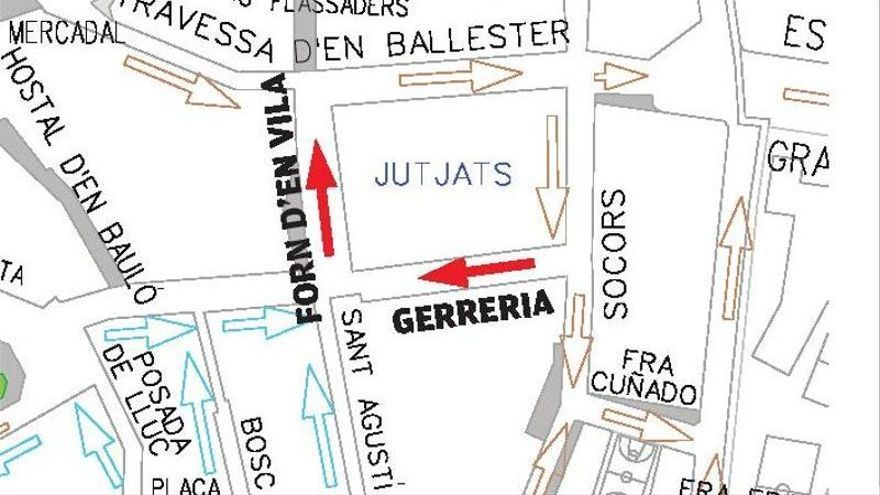 Cort cambia el sentido en dos tramos de calles del centro