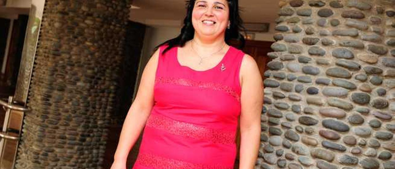 Antonia Sánchez, tras el reconocimiento a su labor en la entidad.