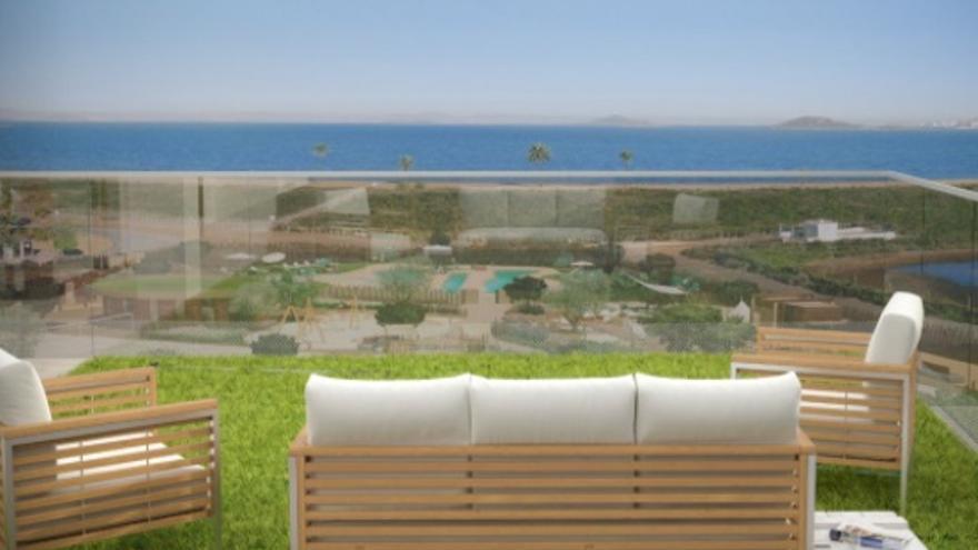Vistas impresionantes desde cualquiera de estos áticos en venta en La Manga del Mar Menor
