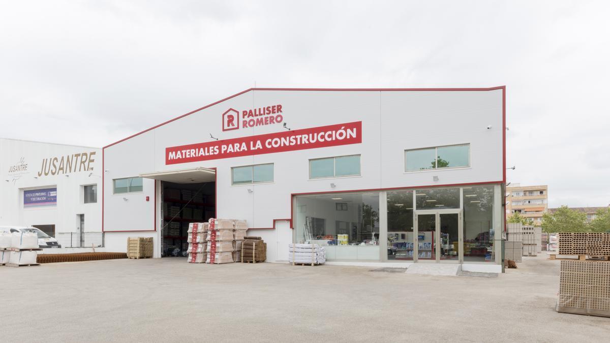 El almacén de materiales para la construcción de Palliser Romero en Inca.