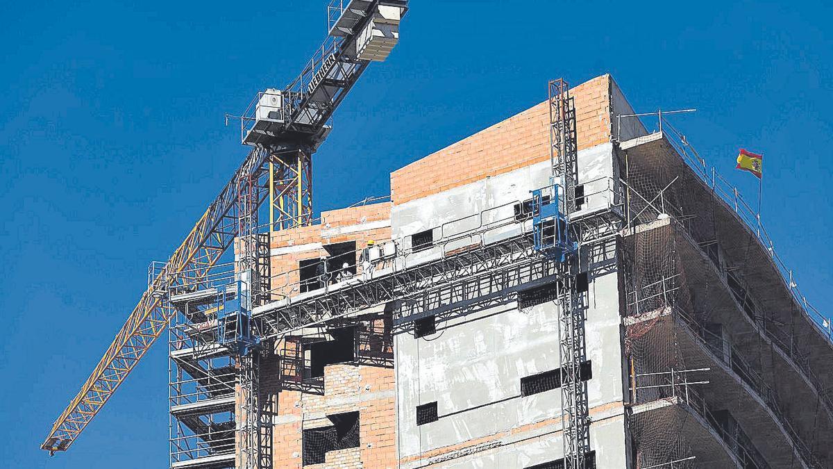 Unas obras recientes de construcción de edificios en la capital aragonesa