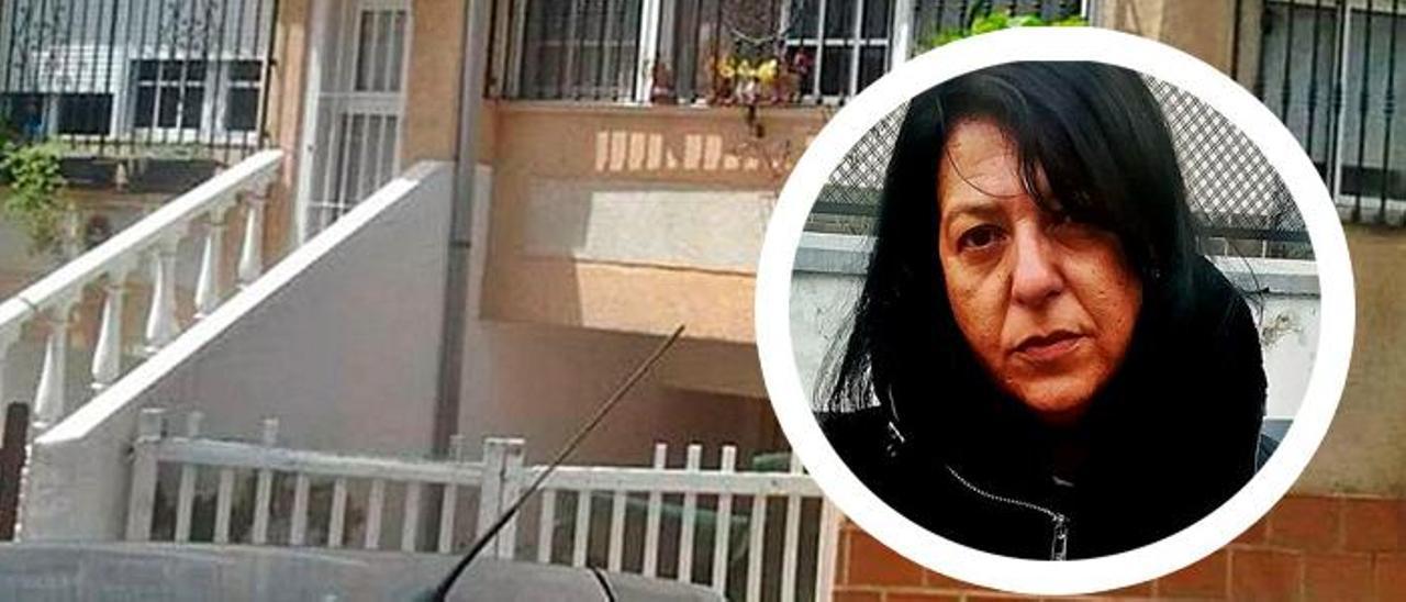 La vivienda ocupada; en el círculo Susana Tolino