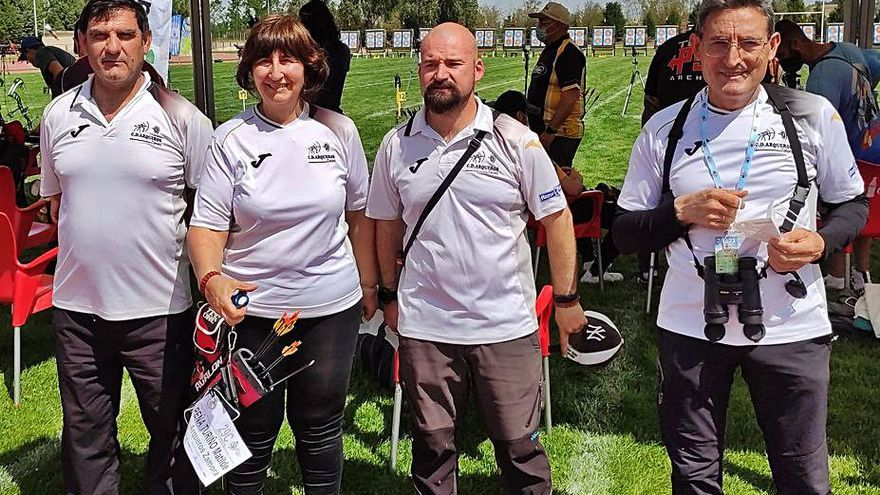 El parón pesa en la puntería del Arqueros Zamora en el Gran Premio de España