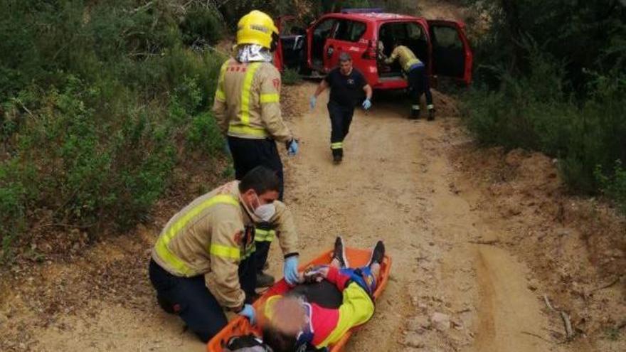 Rescaten un ciclista accidentat entre Llagostera i Santa Cristina d'Aro