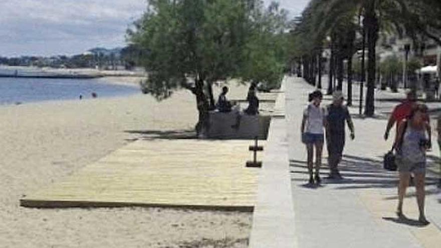 Piden retirar cien hamacas  y una tarima en dos playas