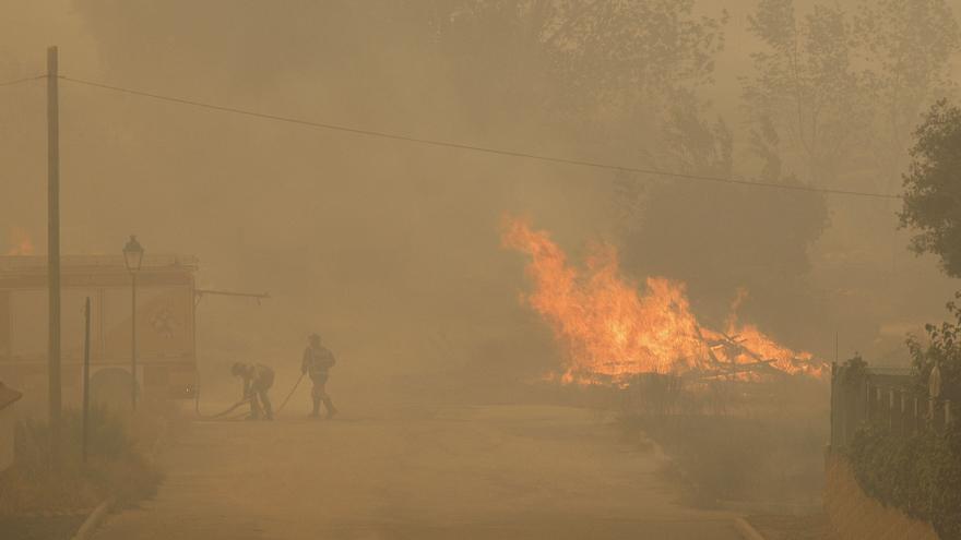 Incendio forestal en Navalacruz (Ávila)