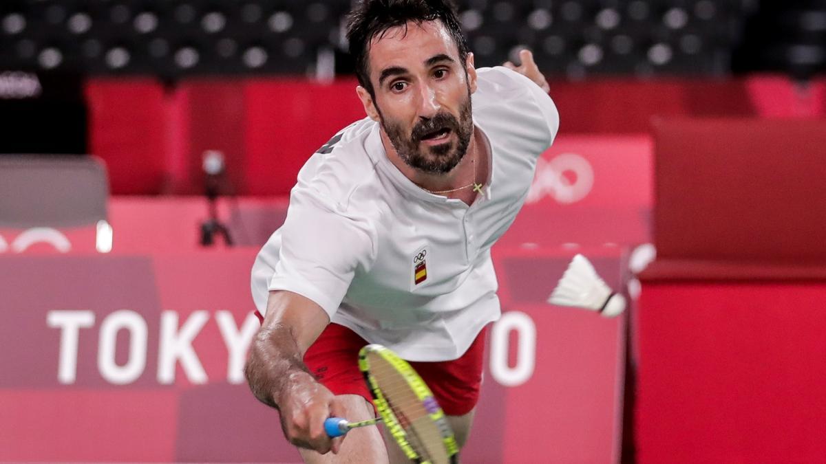 Pablo Abián, durante su partido.